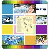 Bestway 62091 - Set de parches de reparación de pinchazos bajo el agua, 10 parches