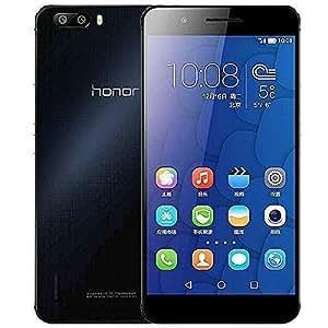 Honor 6 Plus 4G Dual SIM Smartphone portable avec Carte Micro SD 32GO Gratuite (Mettre à niveau vers Android L, Pleine Ecran HD 5.5-pouce, 8 MP Dual Caméra Arrière, 3 GO RAM, 32GO ROM, Android 4.4 , EMUI 3.0, 3600mAh Batterie,LTE)Noir