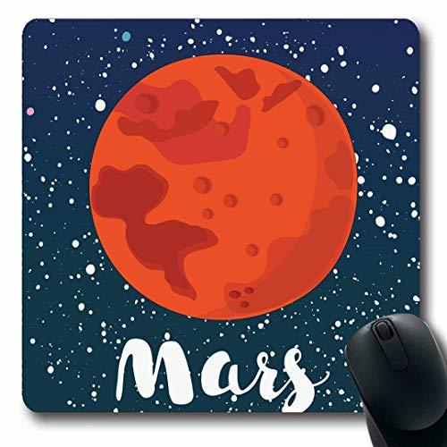 raum Mars Globus Rot Natur Kunst Mond Sonnensystem Abstrakt Andromeda Design Raumschiff Längliche Form rutschfest Gaming Mouse Pad Gummi Längliche Matte,Gummimatte 11,8