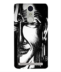 For Lenovo K6-Livingfill- Indian God Shiva Printed Designer Slim Light Weight Cover Case For Lenovo K6(A Beautiful One of the Best Design with a Classic Theme & A Stylish, Trendy and Premium Appeal/Quality) (Red & Green & Black & Yellow & Other)
