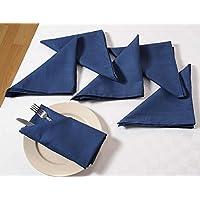 Navey Blu Set Di 6; Cotone Biancheria