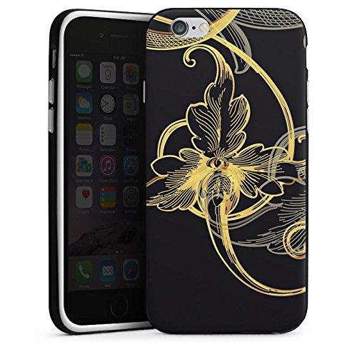 Apple iPhone 5 Housse Étui Silicone Coque Protection Fleur Fleur Fleur Housse en silicone noir / blanc