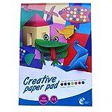 A4 kreative Mischfarbe Papier Notizblock - 100 Blatt - Chiltern - Größe - 297 mm x 210 mm