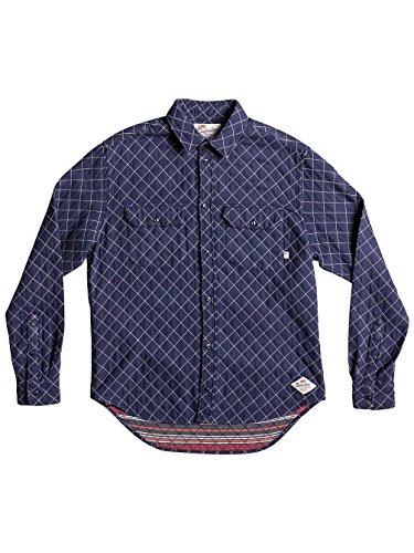 Herren Hemd lang Quiksilver Rippa Down Hemd Medieval Blue