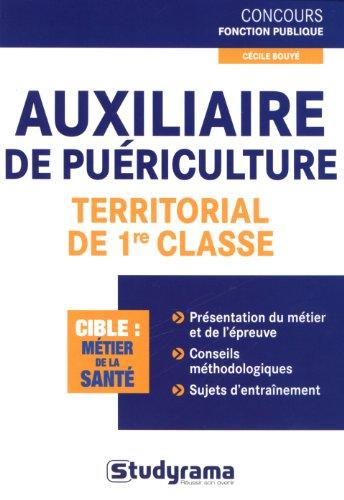 Auxiliaire de puériculture territorial de 1re classe
