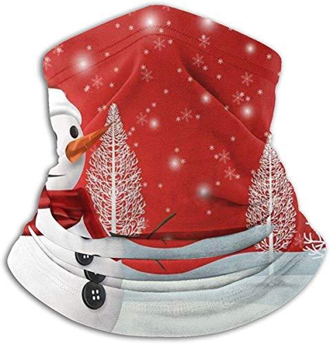 Miedhki Simpatico pupazzo di neve Albero bianco Scaldacollo da neve Scaldacollo Unisex Antivento Collo avvolgente Riscaldamento per sport invernali all'aperto