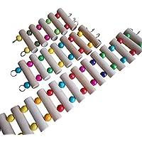JJ Store–Juguetes de madera ratón Hamster Jaula Loro Hanging Escalera Puente