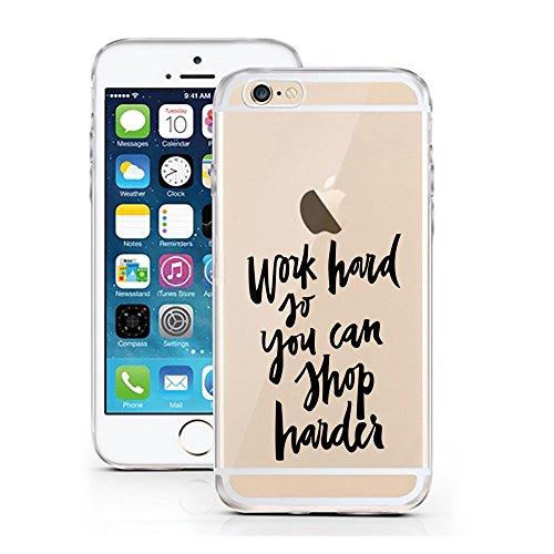 iPhone 6S Hülle von licaso® für das Apple iPhone 6 & 6S aus TPU Silikon Super Hero is my middle Name Super-Held Muster ultra-dünn schützt Dein iPhone & ist stylisch Schutzhülle Bumper Geschenk (iPhone Work hard Shop harder
