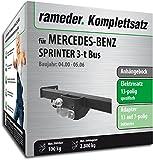 Rameder Komplettsatz, Anhängebock mit 2-Loch-Flanschkugel + 13pol Elektrik für Mercedes-Benz Sprinter 3-t Bus (143010-02041-2)