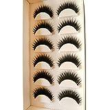 MRULIC 6 Pair 3D 100% Handgefertigte Künstliche Wimpern Dickes Augen Lashes Falsche Wimpern (A)