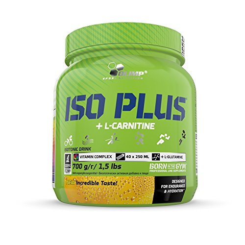 Olimp Iso Plus + L-Carnitine | Isotonic Sports Drink | Kohlenhydrat-Präparate | Zitrone Geschmack | 700 g