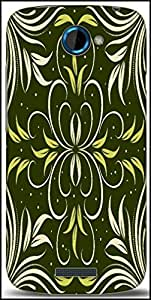 Snoogg Seamless Floral Pattern Abstract Background Designer Protective Back Case Cover For HTC One S