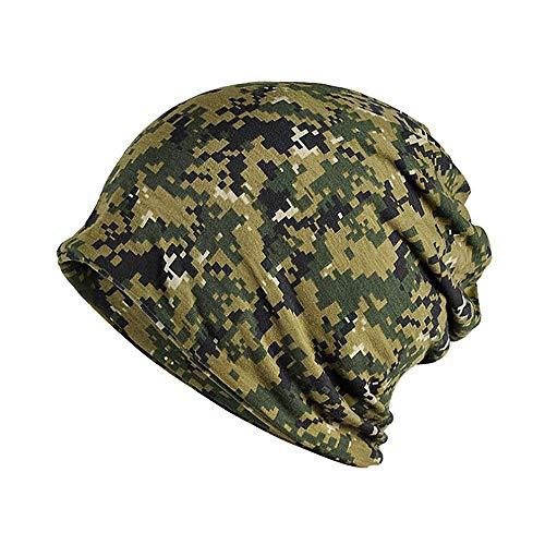 Damen Baumwolle Slouch Beanie Mütze Cap Kopfbedeckung Set Schwarz & Grau für Chemo, Sport, Schlaf 27X28CM ()