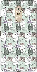 The Racoon Lean printed designer hard back mobile phone case cover for Lenovo K6 Plus. (travel the)