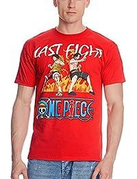 T-shirt One Piece Last Fight avec Luffy et D.Ace rouge