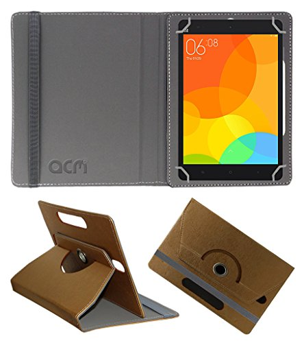 Acm Designer Rotating Leather Flip Case For Xiaomi Mi-Pad Tablet Cover Stand Golden