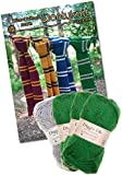 Knitting Bundle Knit Your Own Wizard School Scarf. Wool And Knitting Pattern Provided! (Emerald - Green)