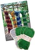 Stricken Bundle Knit eigenen Wizard Schule Schal. Wolle und Strickmuster., Papier, grün, A4