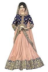 Mahotsav Net Lehenga Choli (6914_Chiku, Royal Blue_Free Size)