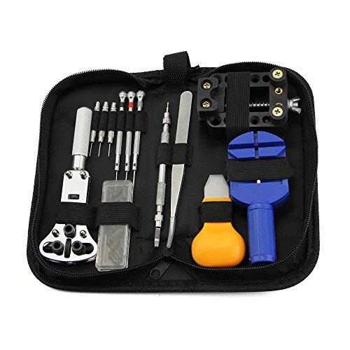 Kbnian 13 Pcs Watch Repair Tool Set Kit- Kbnian -Réparation Montres, Outil Multifonctionnel de Table de Réparation pour Ménager