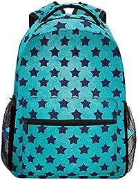 COOSUN Modelo Azul de la Estrella del Texturas Casual Mochila Mochila Escolar Bolsa de Viaje