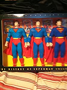 THE HISTORY OF SUPERMAN COLLECTION Three 12 INCH FIGURES by Kenner