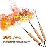 Informazione:Nome: forchetta per barbecueMateriale: acciaio inox + faggioDimensioni: 7 sezioniLunghezza di restringimento: circa 190 mm / 7,48 polliciLunghezza dell'estensione: circa 720MM / 28,35INElenco:1 * forchetta per barbecue   2 * Forchetta...