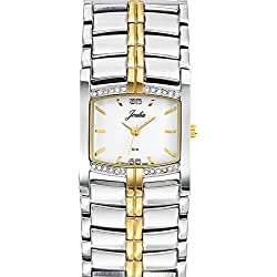 Joalia Women's Analogue Watch with White Dial Analogue Display and Metal Bicolour - 634588