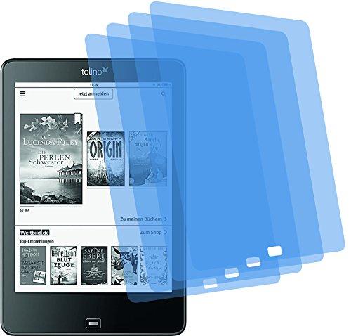 4x ANTIREFLEX matt Schutzfolie für Tolino Epos Displayschutzfolie Bildschirmschutzfolie Schutzhülle Displayschutz Displayfolie Folie