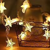 AI-Light stella catena luminosa,80LED luci della stringa,10M Stringa Illuminazione Batteria Alimentato,Calda Bianca,Decorativa da Interni e Esterni,anche per Festa,Giardino,Natale,Halloween,Matrimonio