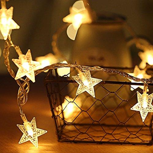 Ai-light stella catena luminosa,80led luci della stringa,10m 8 modo,usb alimentato,calda bianca,decorativa da interni e esterni,anche per festa,giardino,natale,halloween,matrimonio