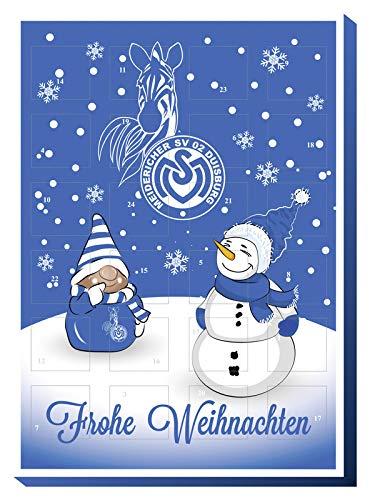 Adventskalender mit Milchschokolade MSV DUISBURG (120 Gramm / 35 x 25 x 1,5 cm) Limited Fan Edition