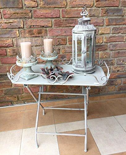 Windlicht Teelichthalter Barock Kerzenhalter Laterne Glas/Metall Antik Shabby