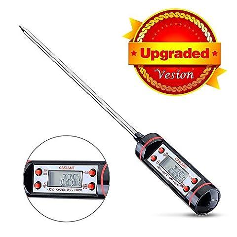 Digital-Thermometer-Küche (lebenslange Garantie) -Caslant Digital-Thermometer mit Langstock und LCD-Bildschirm, ideal für Rindfleisch, Huhn, Garnelen, Gemüse, Grill usw - Prova Perfetta