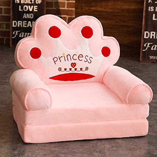 WJH Kinder Sofa,Kinder gepolsterte Couch,Folding Flip-Open Chaise Mini Single Sofa Stuhl Schöne Faul Für Schlafzimmer Kindergarten-A 50x40x47cm(20x16x19inch) (Schöne Sofas)