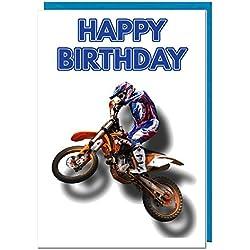 Geburtstagskarte–Motorrad Motocross Motto–Dad–Mann–Brother–Sohn–Grandad–Boyfriend