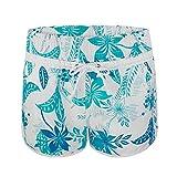 Pantalones cortos para mujer playa bañador de flores de tabla de surf