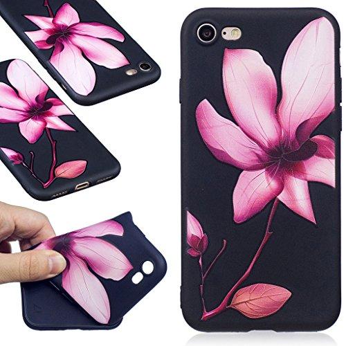 "Coque iPhone 7 , IJIA Ultra-mince Corgi Adorable Chiens (Kiss My ASS) TPU Noir Doux Silicone Bumper Case Cover Coque Housse Etui pour Apple iPhone 7 4.7"" BF39"