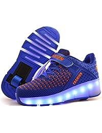 Viken Azer-UK ❤❤❤Unisex Bambino LED Lampeggiante Scarpe da Rotelle Automatiche Skate Formatori Outdoor Multisport Ginnastica Running Shoes Skateboard Sneaker per Bambini Ragazze e Ragazzi❤❤❤