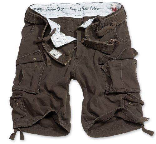 Surplus Division Herren Cargo Shorts, braun, 3XL