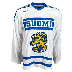 Finnland Eishockey Trikot Nike Authentic Jersey 523207-100 Nationalmannschaft, Herren , weiß,Gr. L