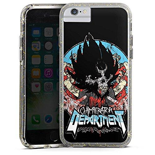 Apple iPhone 8 Bumper Hülle Bumper Case Glitzer Hülle Chimperator Fanartikel Merchandise Merchandising Pour Supporters Bumper Case Glitzer gold
