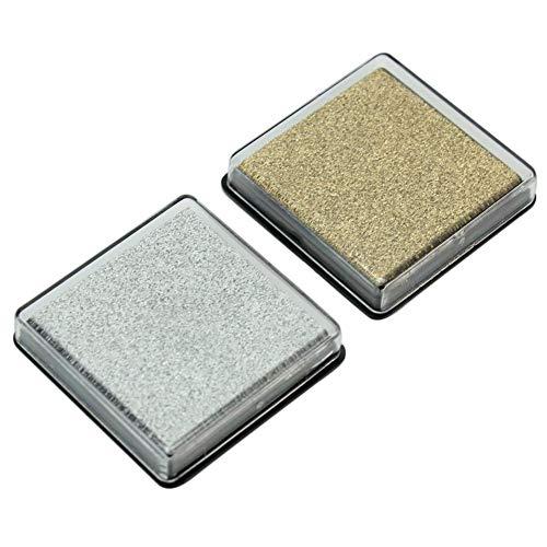 2 stücke DIY Cube Mini Stempelkissen Stempelkissen Holz Stoff Papier Stempel Scrapbook Handwerk Nützlich und Praktisch Carry stone -