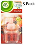 Airwick 5 X AIR WICK PLUG IN OIL REFILLS - CRACKLING FIRE & MULLED WINE