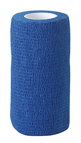 Flexible Selbstklebende Bandagen (12 Stück Equilastic 7,5 cm blau Bandagen für Pferde selbsthaftende Pferdebandagen Haftbandage elastischer Verband Gelenkbandage flexible Binde selbstklebend Fixierbinde Flexbandage Klauenbandage)