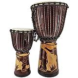 2 er Set 40cm + 60cm Profi Djembe Trommel Bongo Afrika Art Buschtrommel Elefant