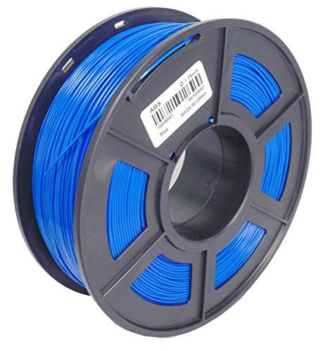 Druckerverbrauchs material 3D ABS Filamento 1,75 mm, Maßgenauigkeit +/- 0,02 mm, 1 kg (Blau) (Filamento Abs)