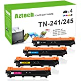 Aztech 4 Pack XXL Kompatibel für Brother TN241 TN-241 TN 241 TN-245 TN245 Toner für Brother MFC-9332CDW MFC 9332CDW MFC-9142CDN Toner Brother MFC 9142 CDN MFC-9342CDW Brother DCP-9022CDW Toner DCP 9022CDW Toner Brother 3140 Drucker Toner