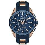 Cerruti‿1881 CRA23602 Montre Bracelet pour Homme Bleu et doré