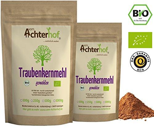 Traubenkernmehl Bio (1kg) Rohkost Traubenkern-Pulver